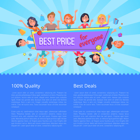 Best Offer for Everyone Promotional Poster People Vectores