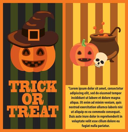 Halloween Pumpkins and Cast-Iron Vat of Potion