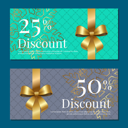Discount on 50 25 Percent Set of Posters with Gold Zdjęcie Seryjne - 90992958