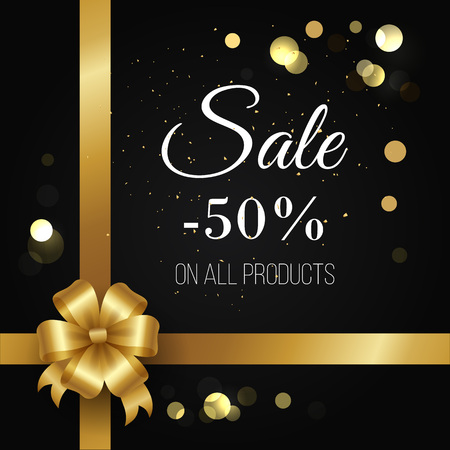 Winter Sale Poster -50 Off on All Products Vector Ilustracja