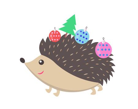 Little Happy Hedgehog Icon Vector Illustration Illustration
