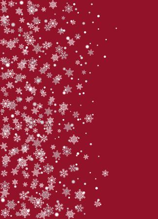 現実的な雪片ブルゴーニュの背景のベクトル  イラスト・ベクター素材