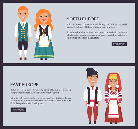 北および東ヨーロッパの画像ベクトル図