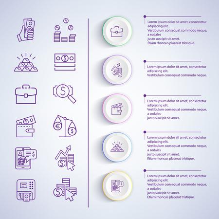 Business Strategies Analysis Vector Illustration 向量圖像