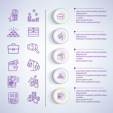 Illustration vectorielle de stratégies commerciales d'analyse