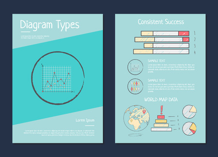Daigram Types Presentation Vector Illustration Ilustrace