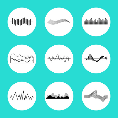 Set of Charts in Circles on Vector Illustration Illustration