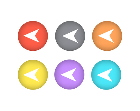 Pointers Directed to Left Iand Right Icons Circle Иллюстрация