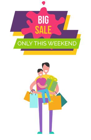 Big Sale Only This Weekend Vector Illustration Ilustração