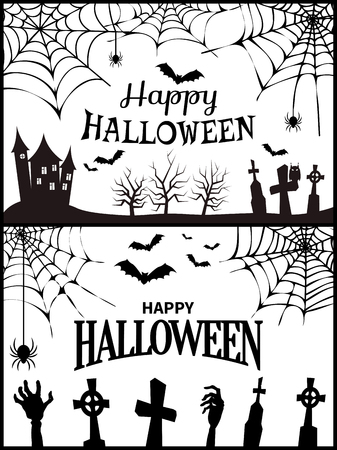 Happy Halloween Wish Poster Vector Illustration