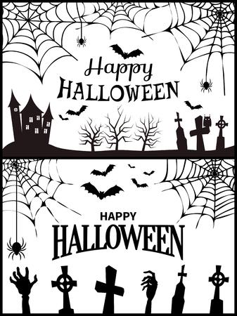 Happy Halloween Wish Poster Vector Illustration Banco de Imagens - 90993687