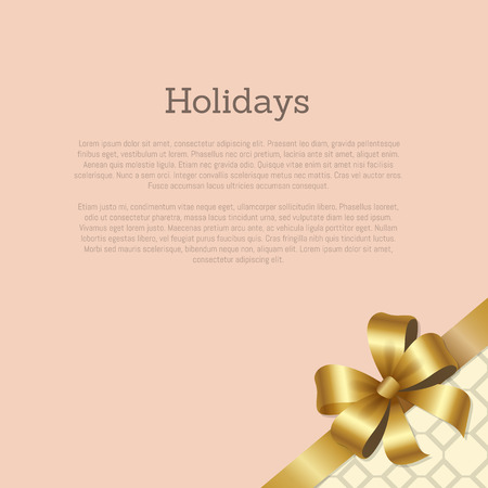 Holidays Gift Certificate or Greeting Card Design Illustration