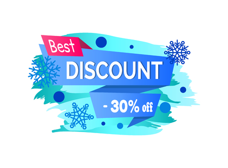 Best Discount -30 Off Winter Sale Label Snowballs Stock Vector - 90993693