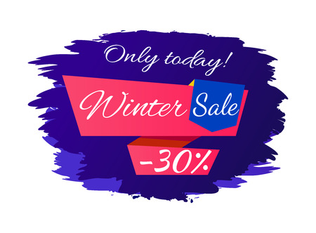 Only Today Winter Sale - 30 Off Promo Poster