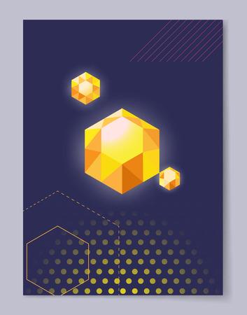 Kostbare Crystal Polygon Shape Vector Illustration Stock Illustratie