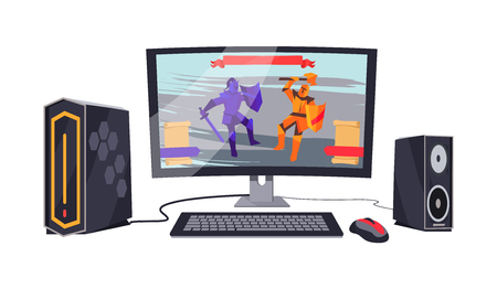 Gaming Personal Computer Vector Illustration
