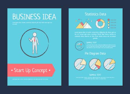 ビジネス アイデア スタートアップ概念ベクトル図