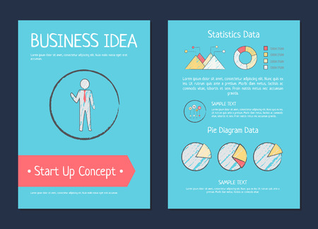 Business Idea Startup Concept Vector Illustration