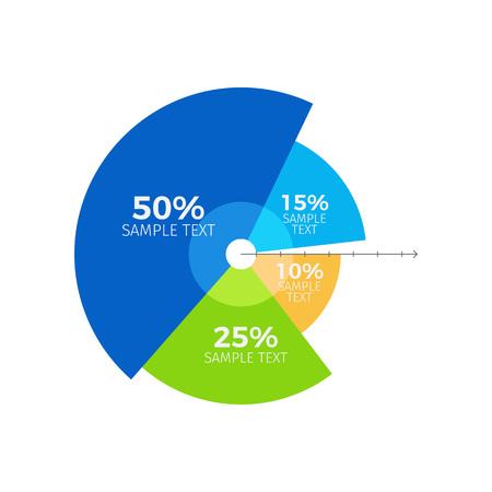 Infographie montrant le ratio et la proportion des éléments constitutifs de l'unité, avec exemples de titres sur l'illustration vectorielle isolés sur blanc