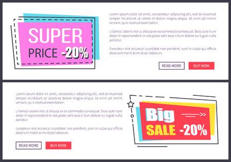 Super Price -20 , Big Sale 20 Vector Illustration