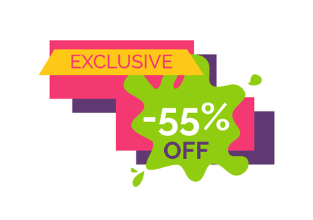 Exclusive -55 Off Sticker on Vector Illustration