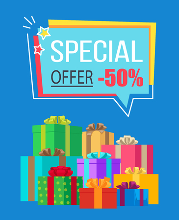 Special Offer Half Price off Vector Illustration