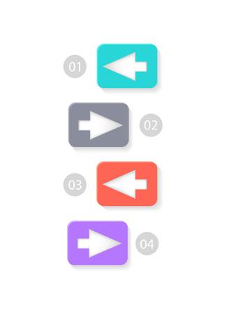 Colorful Arrowed List Icon Vector Illustration Illustration