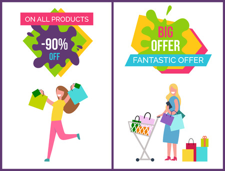 On All Products -90 Off on Vector Illustration Illustration
