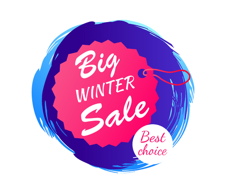 Big Winter Sale Best Choice Vector Illustration