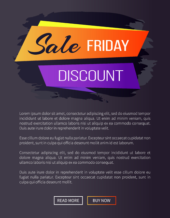 Sale Friday Discount Web Page Vector Illustration