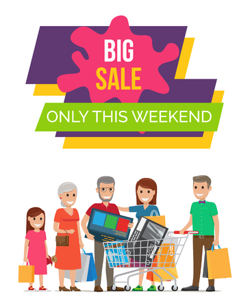 Big Sale This Weekend Poster Vector Illustration