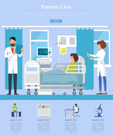 Patient Care Description Vector Illustration