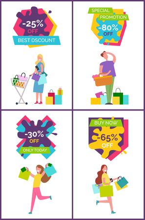 -25 Off Best Discount Banners Vector Illustration Illustration