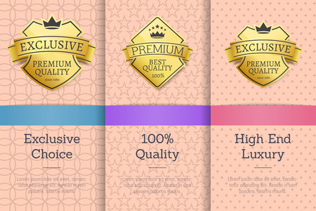 Exclusive Choice, 100 Quality Vector Illustration