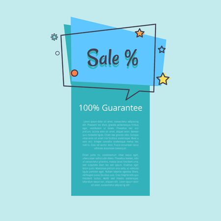 100 Guarantee Sale Banner in Square Speech Bubble