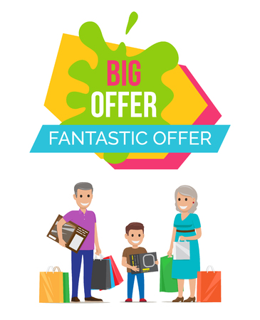 Fantastic Offer Sale Advert Vector Illustration Illustration