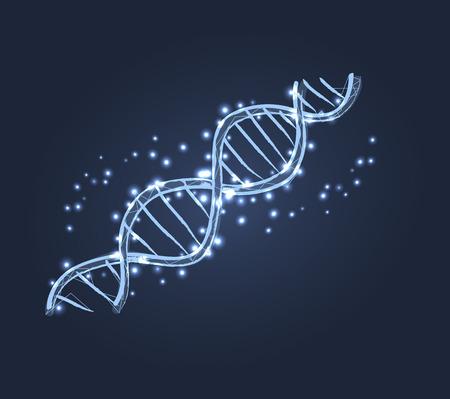 DNA 코드 구조 아이콘 벡터 일러스트 레이션