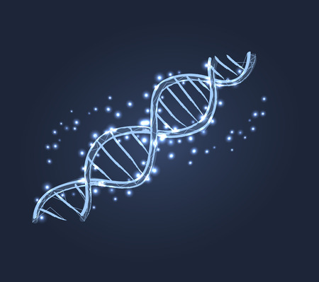 DNA Code Structure Icon Vector Illustration