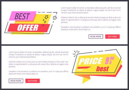 Best Offer and Price Websites Vector Illustration Illustration