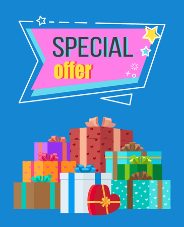 Special Offer Sticker in Abstract Frame with Stars