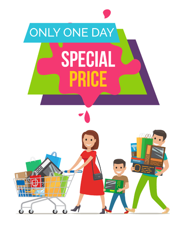 Only One Day Special Price Vector Illustration Illustration