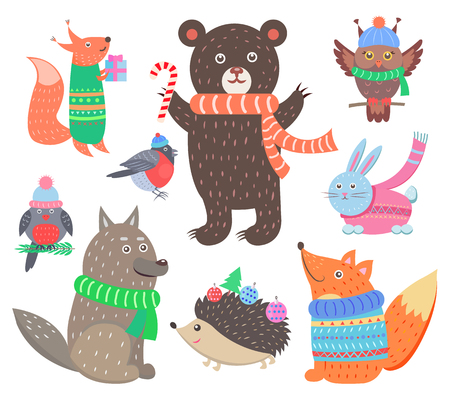 Collection of Animal Images Vector Illustration Ilustracja
