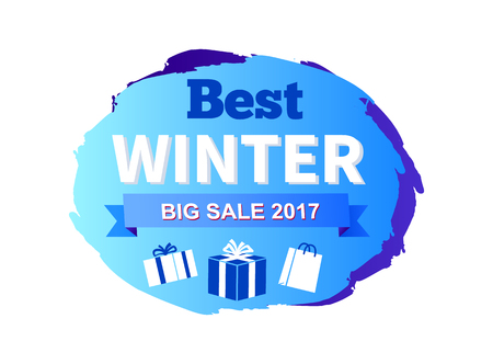Best Big Winter Sale Icon Vector Illustration Gift Ilustrace