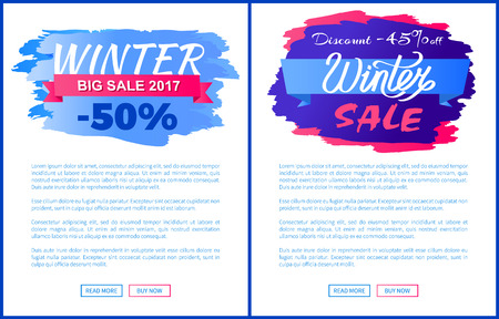 Big Winter 2017 Discount Vector Illustrations Set