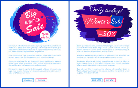 Only Today Winter Sale - 30 Off Promo Posters Set