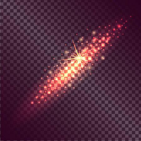불타는 불꽃의 빛 효과가 투명하게 나타남