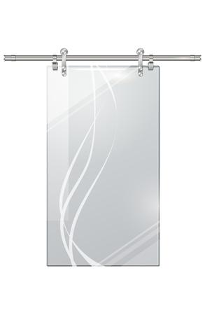 체크 무늬 배경에 투명 문 이동