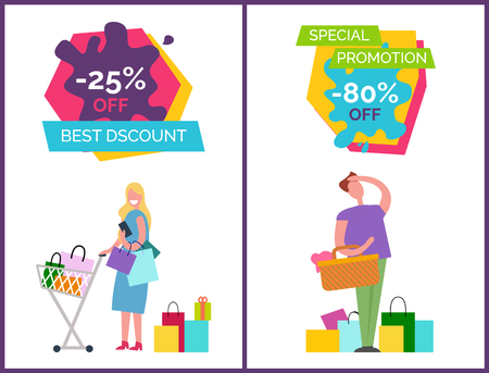 Best discount and special promotion poster design.
