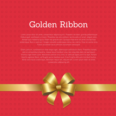Golden Ribbon Certificate or Greeting Card Design