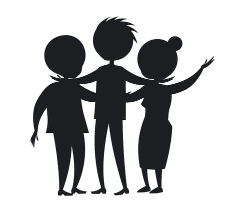 Happy Mature Family vector Illusztráció